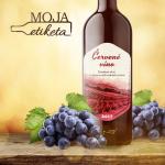 červené víno etiketa samolepka vodeodolná 043m
