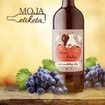 Svadobná vineta víno pálenka 042m