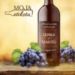 Oznamimto svadobna etiketa vino palenka samolepka 004