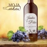 Oznamimto svadobna vigneta vino palenka samolepka 005