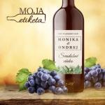 Oznamimto svadobna etiketa vino samolepka 007