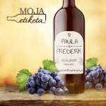 Oznamimto svadobna etiketa vino palenka samolepka 009