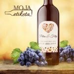 Oznamimto svadobna nalepka vino palenka 012