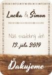 Oznamimto svadobna etiketa palenka vino samolepiaca 014