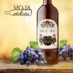 Slovenská tradičná etiketa vzory na víno pálenku na flašu 048m