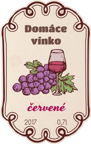 domáce víno etiketa samolepka 039m