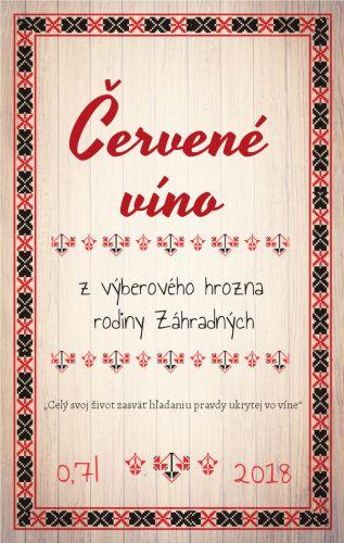 Slovenská tradičná etiketa vzory na víno pálenku na flašu 047m