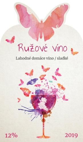 Etiketa na víno 012 s motýlmi