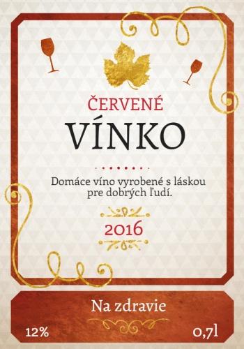 Svadobná etiketa na flašu víno 014