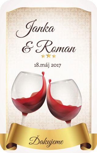 Samolepiaca etiketa na svadobné víno_022