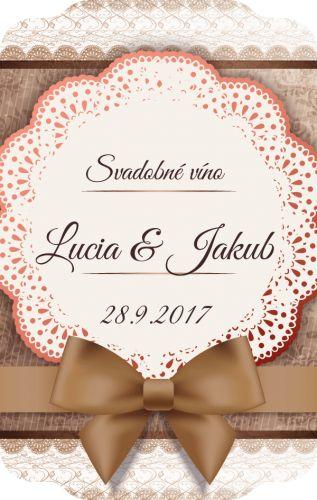 Samolepiaca etiketa na svadobné víno_033