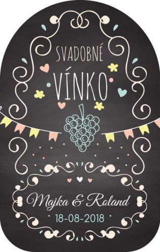 Samolepiaca etiketa na svadobné víno_036